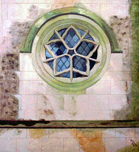 Round window at Newstead Abbey