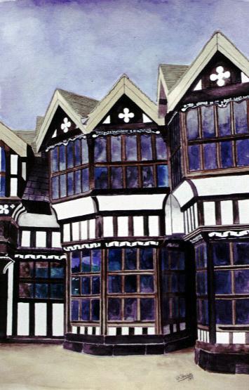 Little Moreton Hall watercolour study