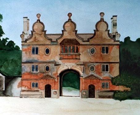 Cotswold Gatehouse watercolour study