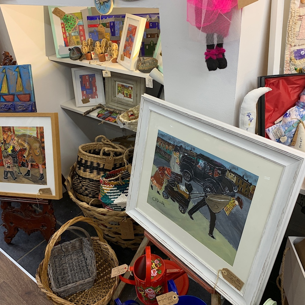 Local basketry and paintings tempt visitors to this arts and crafts shop in Filey, East Yorkshire