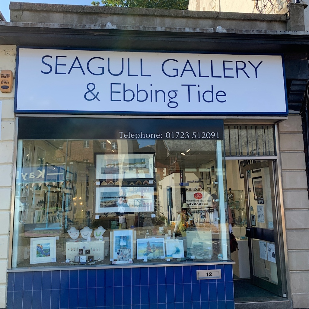 Aptly named Seagull Gallery in Filey, East Yorkshire