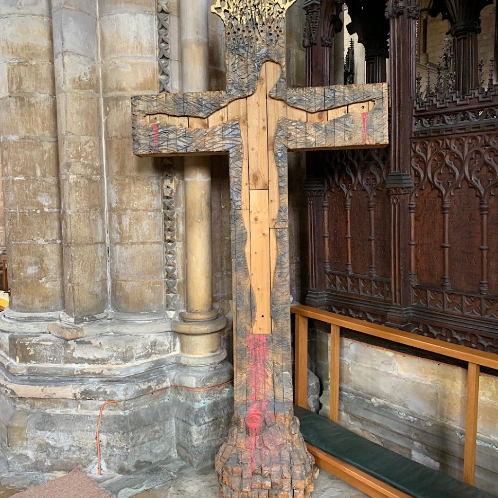 Wood carved art in Beverley Minster