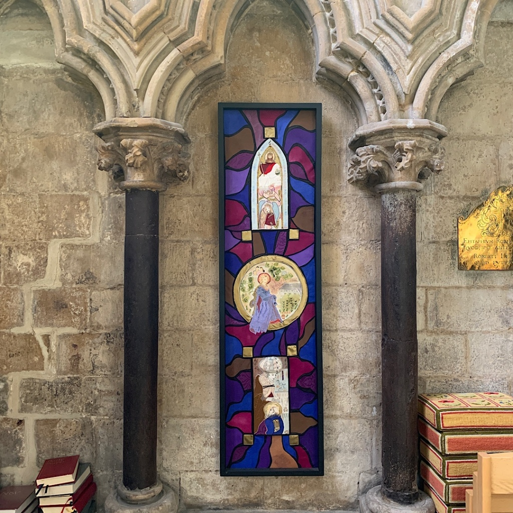 Colourful collage in Beverley Minster