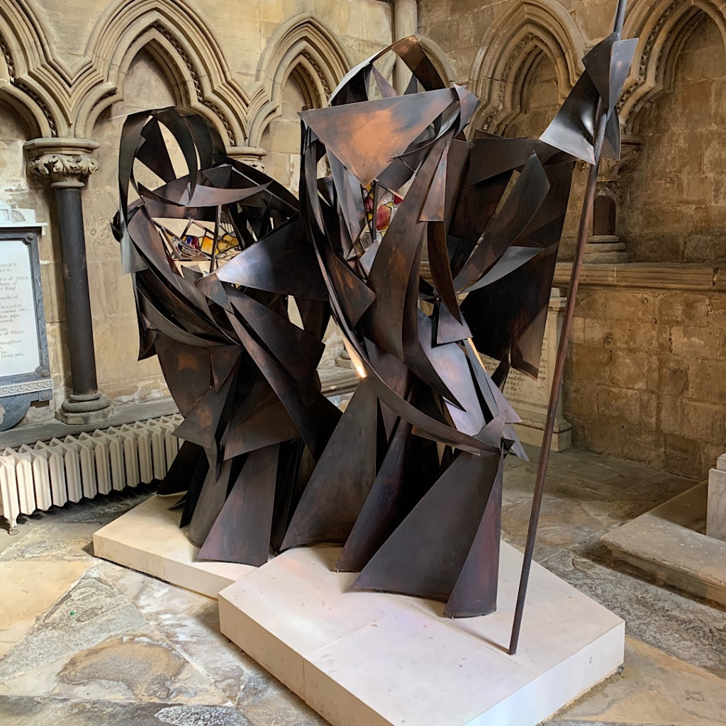 Metallic sculpture in Beverley Minster